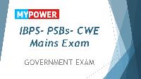 IBPS Mains- Clerk